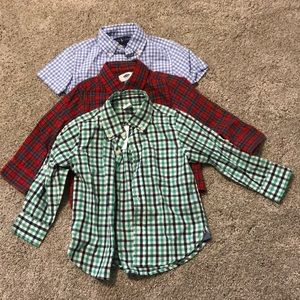 Lot of 3 boys 2T button up shirts